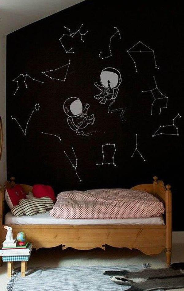 black-walls-starry-sky-childrens-room